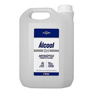 Álcool Gel 70% - Antisséptico c/glicerina - 5 litros - My Health
