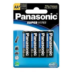 Pilha Comum AA - com 4 unidades - Panasonic