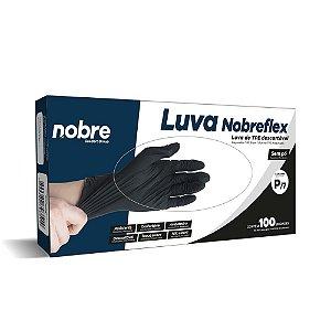 Luva TPE - Preto -c/100unid.  - Nobreflex - Nobre