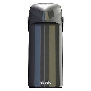 Garrafa Térmica de Pressão - Preto - 1 Litro - Massima - Aladdin