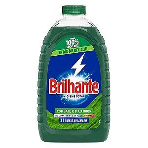 Lava Roupas Líquido - Higiene Total - 3 litros - Brilhante