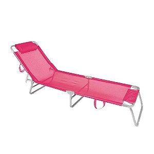 Cadeira Espreguiçadeira Alumínio - Rosa - Mor