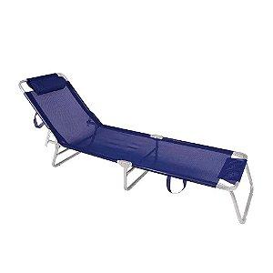 Cadeira Espreguiçadeira Alumínio - Azul - Mor