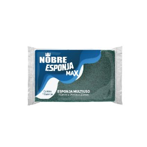 Esponja verde/amarelo emb.indiv. 110x74x23mm multiuso MAX - NOBRE