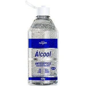 Álcool gel 70% 430gr. (antisséptico/hidratante p/ mãos) MYHEALTH