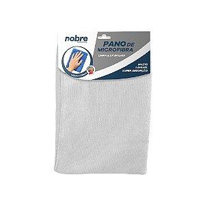 Pano de Microfibra 40x60cm Branco - pacote com 2un - Nobre