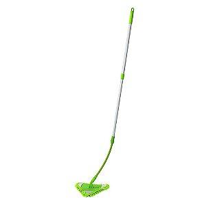 Mop flexível triangular e refil de microfibra - Nobre