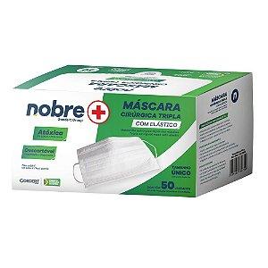 Máscara de Proteção - Tripla - Filtro 99,7% - com Elástico - Caixa com 50 un - NB005 - Nobre