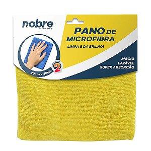 Pano de Microfibra 40x40cm Amarelo - pacote com 2un - Nobre