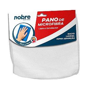 Pano de Microfibra 20x20cm Branco - pacote com 2un - Nobre