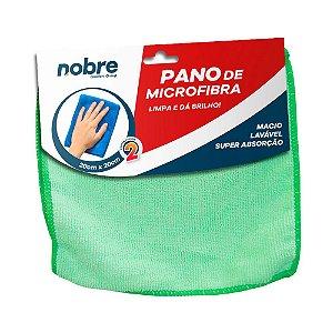 Pano de Microfibra 20x20cm Verde - pacote com 2un - Nobre