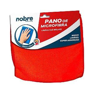Pano de Microfibra 20x20cm Vermelho - pacote com 2un - Nobre
