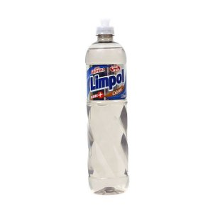 Detergente líquido lava louças Cristal 500ml - com glicerina - LIMPOL