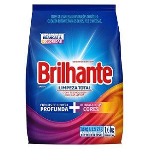 Detergente sanitizante sabão em pó limpeza total 1,6KG - BRILHANTE