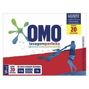 Detergente sabão em pó OMO Lavagem perfeita 1,6kg - OMO
