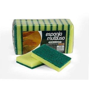 Esponja verde/amarelo multiuso - pacote com 10 unidades - NOBRE