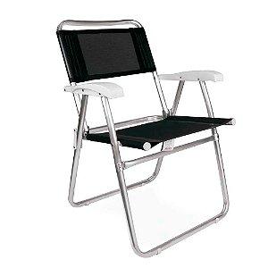 Cadeira Alumínio - Preta – Mor