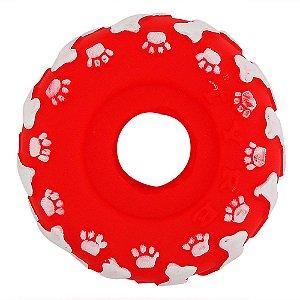 Acessório Brinquedo p/ Animais - Roda em Vinil c/ apito