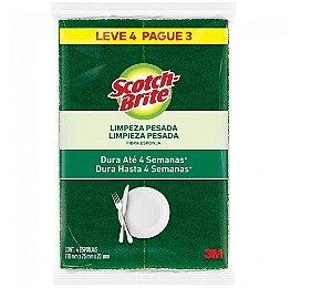 Esponja de Limpeza Pesada c/4un SCOTCH BRITE