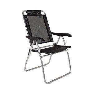 Cadeira de Praia Reclinável - Preta - Mor