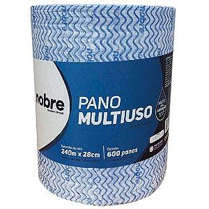 Pano Multiuso - Rolo 28cm x 240m - Azul - Nobre