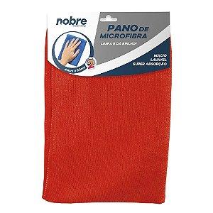Pano de Microfibra 40x60cm - Vermelho - pacote com 2un - Nobre