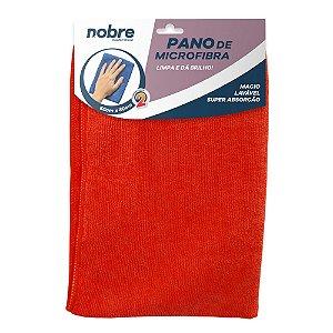 Pano de Microfibra 60x80cm - Vermelho - pacote com 2un - Nobre