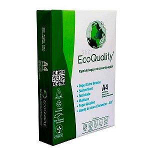 Papel para Impressão - Tamanho A4 - Resma c/500 fls - Ecoquality