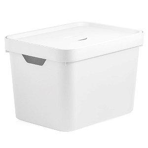 Caixa Organizadora - M - com Tampa - 18L - Branco - OU