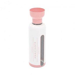 Porta Amaciante 970ml - com Dosador - Rosa e Branco - Plasútil