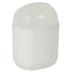 Lixeira Flip Top - Branca - 5L - Plasútil