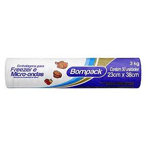 Saco Freezer - 3kg - 50unidades - Bompack