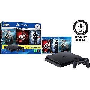 Console PS4 1TB + 3 Jogos + Controle sem fio