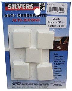 Anti-derrapante para Piso Quadrado Auto-adesivo 3x3cm Silver's Branco