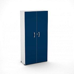 Armario Alto 2 Portas Maxxi Pandin Azul e Cinza