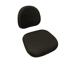Assento e Encosto Executiva em Tecido Solid Preto
