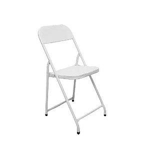 Cadeira de Aco Dobravel para Bar Asia Metalmix Branco