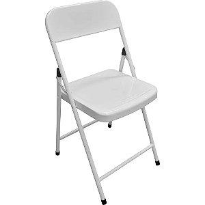 Cadeira de Aco Dobravel para Bar America Metalmix Branco