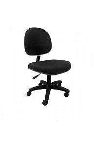 Cadeira Executiva Giratoria Sem Braco em Tecido Solid Preto