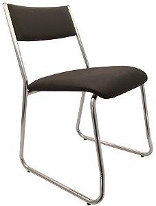 Cadeira Fixa de Aproximacao Empilhavel Cavaletti Preto
