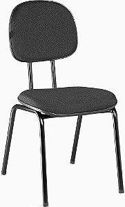 Cadeira Secretaria Fixa em Tecido Solid Preto