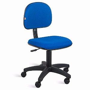 Cadeira Secretaria Giratoria em Tecido com Base Preta Solid Azul