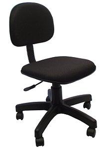 Cadeira Secretaria Giratoria em Tecido com Base Preta Solid Preto