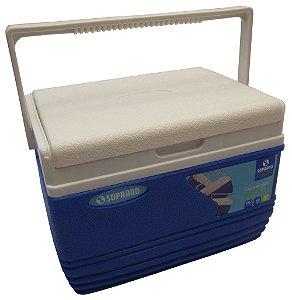 Caixa Termica Soprano Tekcor Azul  4.5 Lt