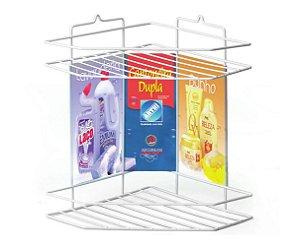 Cantoneira Dupla para Shampoo Arthi Branco