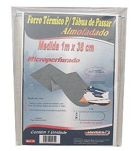 Forro Termico para Tabua de Passar Microperfurado Silver´s 38 Cm 1,00 M