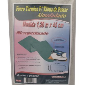 Forro Termico para Tabua de Passar Microperfurado Silver´s 45 Cm 1,20 M