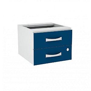 Gaveteiro Aereo com 2 Gavetas Maxxi Pandin Azul e Cinza 29 Cm