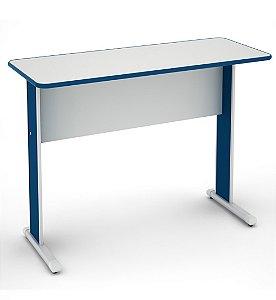 Mesa para Escritorio Auxiliar Maxxi Pandin Cinza e Azul 90 Cm