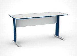 Mesa para Escritorio Gerencia Maxxi Pandin Cinza e Azul  1,50 M